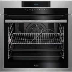 Aeg BPE742320M  SenseCook Pyrolytic oven with ProSight Plus touch controls, white LEDs, stainless st