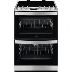 Aeg Ccb6740acm Freestanding Cooker, S/Steel, 60Cm, Ceramic Hob, Double Oven