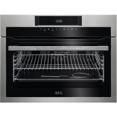 Aeg KPE742220M  SenseCook Pyrolytic compact oven with ProSight touch controls, white LEDs, stainless
