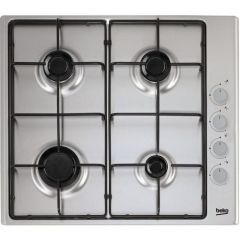 Beko CIHYG21SX Gas Hob 4X Burners, Enamel Pan Supports, FFD Fitted, Automatic Ignition, High Efficie