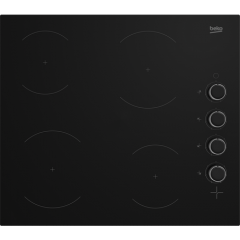 Beko CIHYV21B Ceramic Induction Hob Residual Heat Indicators, Non-Retractable Dial Controls, H3.7Xw5