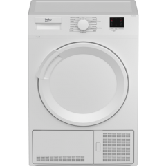 Beko DTLCE80041W 8Kg Condenser Tumble Dryer B Energy Rated, 15 Programmes, Sensor Dryer, Delay Start