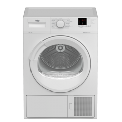 Beko DTLP81141W 8Kg Heat Pump Tumble Dryer A+ Energy Rated, 15 Programmes, Delay Start, Button + Dia