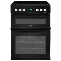 Beko EDC633K 60Cm Black Electric Cooker, Ceramic Hob