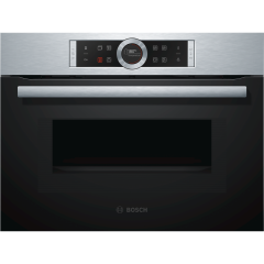 Bosch CMG633BS1B 6 functions, microwave, MW combination options, TFT, colour display, SoftOpen/Close
