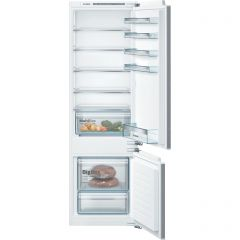 Bosch KIV87VFF0G 177x54 LowFrost bottom freezer, MultiBox, LED, SuperFreezing, 4 glass shelf, Fixed