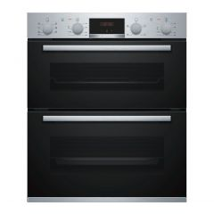 Bosch NBS533BS0B Red display, Main oven 5 functions, 2-piece slim pans, EcoClean back: 2nd oven 3 fu