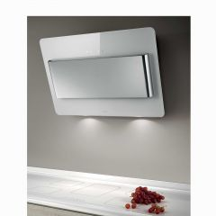 Elica VERVE-80-WH Verve white glass/polished stainless steel 800mm