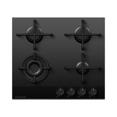 Fisher And Paykel CG604DNGGB4 600mm Wide `Gas on Glass` 4 Burner Minimal Style
