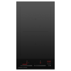Fisher And Paykel CI302DTB4 300mm Wide Induction `Touch + Slide` Control Frameless 2 Zone with Smart