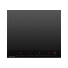 Fisher And Paykel CI604DTB4 600mm Wide Induction `Touch + Slide` Control Frameless 4 Zone with Smart