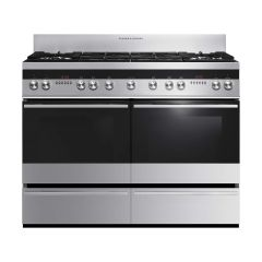 Fisher + Paykel OR120DDWGX2 OR120DDWGX2 1200mm Wide Double Door - Double M/F Ovens, Dual Clocks, War