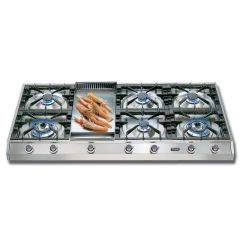 Ilve HP1265FD 120cm Professional Gas Hob - 6 Burner Fry Top