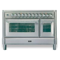 Ilve M12FIDWE3/Majestic Roma 120cm Twin 90 / 30 OVENS 4 Gas Burners & Frytop & 2 Zone Induction
