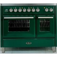 Ilve MD10FDWE3/Majestic Roma 100cm Twin 60 / 30 OVENS 4 Gas Burners & Frytop