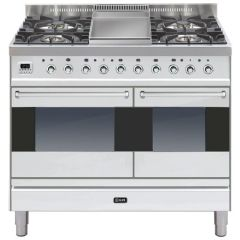 Ilve PD100FMP/Moderna 100cm Twin 60/40 ovens 4 Gas Burners & Frytop