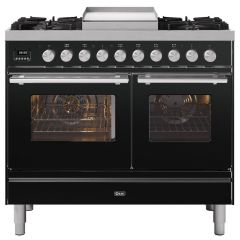 Ilve PD10FWE3 Roma 100Cm Twin Oven, 4X Gas Burner & Fry Top