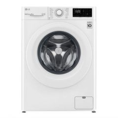 LG F4V308WNW 8kg 1400 Spin Washing Machine A+++ Energy Rated, 14 Programmes, Delay Start, 14 Minute