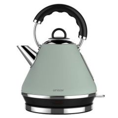 Linsar PK117GREENEOL Electric Pyramid Cordless Kettle, 1.7L Capacity, 2520-3000W, Dry Boil Protectio