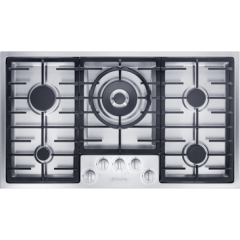 Miele Km2354-1 888Mm Wide, 5 Zone Gas Hob With Dual Wok