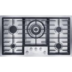 Miele Km2357-1 892Mm Wide, 5 Zone Gas Hob With Dual Wok
