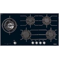 Miele Km3054-1 942Mm Wide, 5 Zone Gas Hob With Wok Burner - Ceramic Base