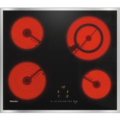 Miele Appliances KM6520 FR 574mm wide, 4 zone ceramic hob inlcuding one vario zone, EasySelect, Time