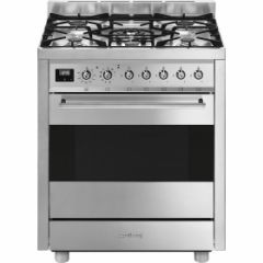 Smeg C7GPX9 70cm Symphony Stainless Steel Single Cavity Pyrolytic Dual Fuel Cooker