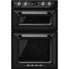 Smeg DOSF6920N1 60cm Victoria Black Double Multifunction Oven