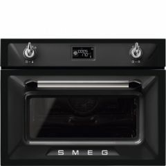 Smeg SF4920MCN1 45cm Height Victoria Black Compact Combination Multifunction Microwave Oven