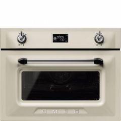 Smeg SF4920MCP1 45cm Height Victoria Cream Compact Combination Multifunction Microwave Oven