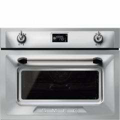 Smeg SF4920MCX1 45cm Height Victoria Stainless Steel Compact Combination Multifunction Microwave Ove