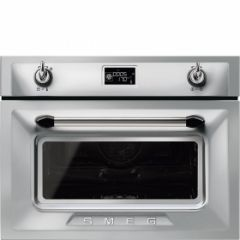 Smeg SF4920VCX1 45cm Height Victoria Stainless Steel Compact Combination Steam Oven A+
