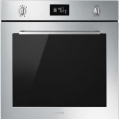 Smeg SF6402TVX 60cm Cucina Stainless Steel Multifunction Single Oven with Soft Close Door