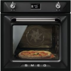 Smeg SF6922NPZE1 60cm Victoria Black Multifunction Single Oven A+ with Soft Close Door