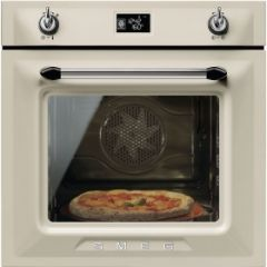 Smeg SF6922PPZE1 60cm Victoria Cream Multifunction Single Oven A+ with Soft Close Door
