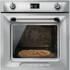 Smeg SF6922XPZE1 60cm Victoria Stainless Steel Multifunction Single Oven A+ with Soft Close Door
