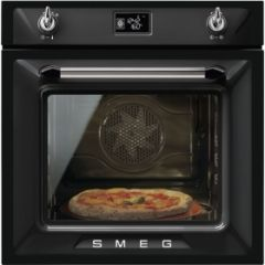 Smeg SFP6925NPZE1 60cm Victoria Black Multifunction Pyrolytic Single Oven A+ with Soft Close Door