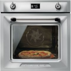 Smeg SFP6925XPZE1 60cm Victoria Stainless Steel Multifunction Pyrolytic Single Oven A+ with Soft
