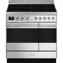 Smeg SY92IPX9 90cm Symphony Stainless Steel Dual Cavity Pyrolytic Induction Cooker