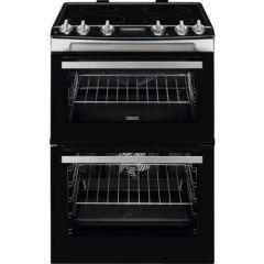 Zanussi ZCI66278XA ZCI66278XA 60cm Double Oven Electric Cooker A Energy Rated, Main Oven 77 Litre Ca