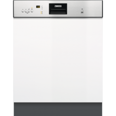 Zanussi ZDI26022XA  Semi integrated dishwasher, 13ps, Airdry, double fulcrum hinge, 6 programmes, 24