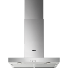 Zanussi ZHB62670XA  60cm Chimney Hood, Stainless Steel. LED lighting, Charcoal filter available as a