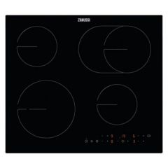 Zanussi ZHRX643K 058ZHRX643K Electric Hob Energy Rated, Ceramic Built-in Hob, Flexible Zoning, Touch