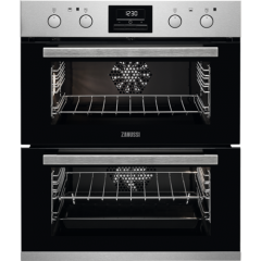 Zanussi ZOF35802XK  Multifunction built under double oven with 7 functions in the main oven and 5 fu